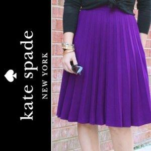 Kate Spade Purple Pleated Skirt